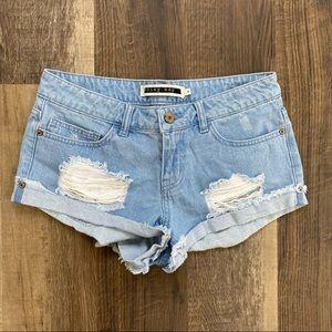 Noisy may High Waist Distressed Jean Shorts